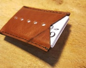 Horween leather business card wallet