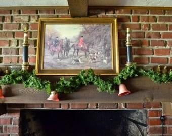 vintage bell Christmas lights and garland