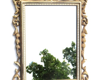 """20"""" Ornate Syroco Mirror Wall Mount or Countertop, French Country, Paintable"""