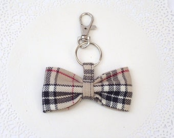Fabric Bow Keychain