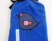 Royal Blue Fleece Hot Water Bottle Cover