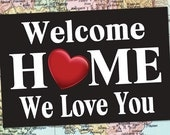 PRINTED Welcome Home BANNER / LDSHomecoming Poster / Deployment Poster / Any Size! / #WelcomeHome #Missionary #LDSMission