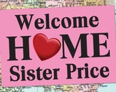 PRINTED Welcome Home BANNER 2'x3' with grommets / LDS Homecoming Poster / Deployment Poster / #WelcomeHome #Missionary #LDSMission