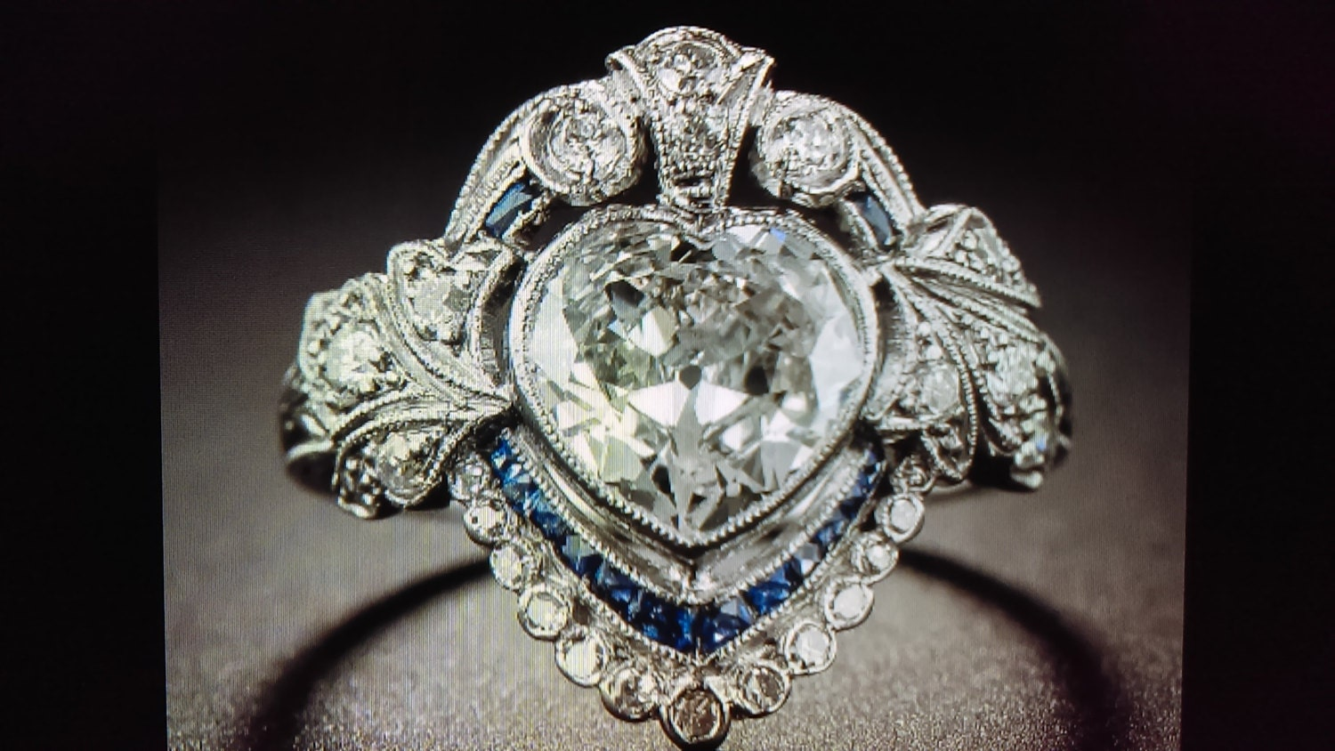 antique reproduction ring edwardian ring