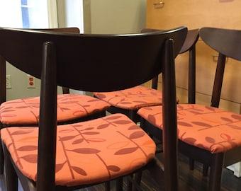 SALE-Four Danish modern clam shell dining chairs min century modern