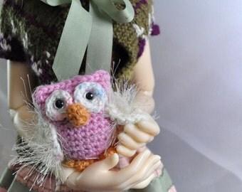 "Miniature owl, BJD, MSD doll toy, doll pet - ""Passion"""