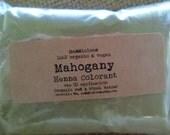 Vegan-ORGANIC MAHOGANY HENNA Hair Colorant Powder-One (1) Application-approx. 2.2oz.