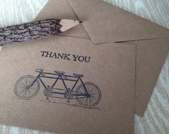 Wedding Thank You Cards (10) Rustic Wedding Thank You Set of Thank You Cards Nature Bulk Discount Card Kraft Cards Rustic Thank You Cards