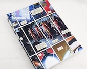 Hand bound A5 note book with comic cover