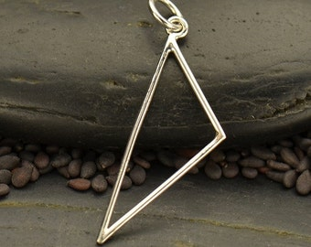 Sterling Silver Scalene Triangle Link