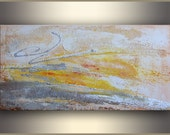Sand Dance 15x30 Original Abstract Painting Acrylic Painting ORIGINAL art Abstract Painting Original Abstract Art metallic Silver - Tatjana