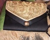 Jose Cotel Rare Black And Gold Evening Bag  Vintage .....Interchangeable Fronts..Unique..Rare
