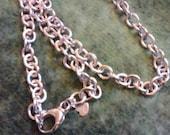 Milor Bronze,Italy Silver Plated Rolo  24 Inch Chain..Bronzo Italia