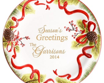 Engraved Holiday Platter
