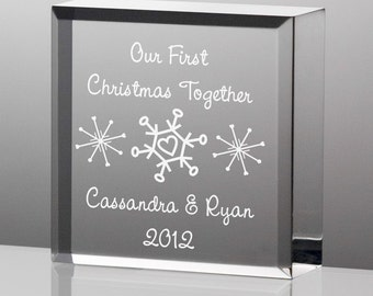 Engraved Tiny Treasures Couples' First Christmas Keepsake