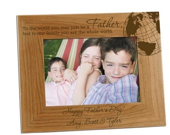 Engraved You Are Our Whole World Photo Frame for Dad