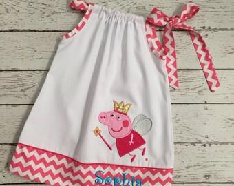 Peppa Pig Pillow Case Dress - Peppa Dress - Pillow Case Dress - Girls Fashion