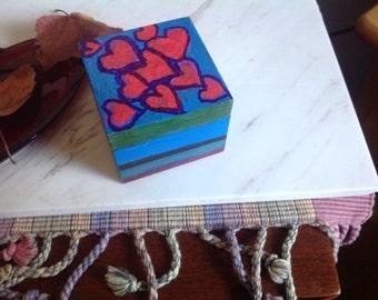Handpainted heart box