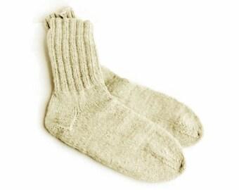 Merino Wool Women Socks. Organic Undyed Soft Wool Socks. S women socks size