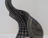 Vintage Abraham Palatnik 9+ inch ELEPHANT Lucite Acrylic Sculpture Figurine 2067