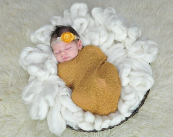 Mustard RTS Stretchy Soft Newborn Knit Wraps 80 colors to choose from, photography prop newborn prop wrap
