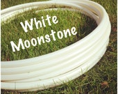 "CUSTOM // ""White MoonStone"" Polypro Hoop"