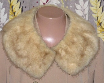 1950s collar #9. Blond mink fur!