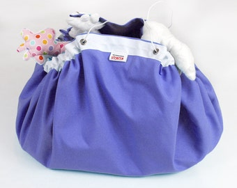 SALE  reduced from USD25 - Play mat Toy bag - Storage bag - Lego playing mat - Playmat - Purple