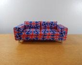 1:12 Scale Miniature Modern Union Jack Sofa