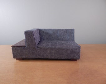 1:12 Scale Miniature Modern Sofa with End Table