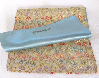 Vintage Christian Dior Lingerie Stocking Hosiery Bag Satin Lining