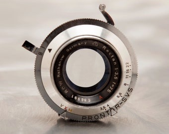 Rathenow 75mm F3.5 Lens in Prontor Shutter from German WaltaFlex TLR Camera - Steampunk Optical Project