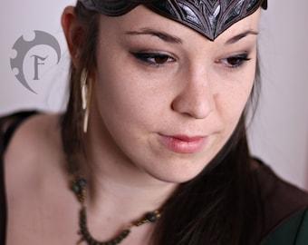 Elvish leather crown,circlet,heandband,headpiece,larp,fantasy,armor,armure,cuir,fantastique,elf,elven