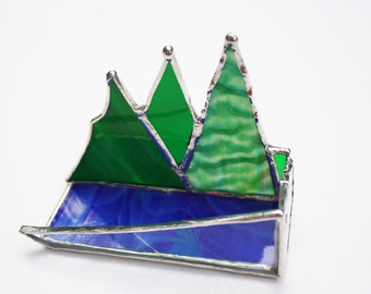 Stained Glass Custom Business Card Holder