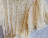 Reserved for Linda ivory & cream vintage fishtail silk charmuese beaded dress by mermaid miss Kristin