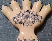 Portugese Blue and White Five Finger Vase