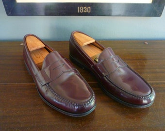 WARDROBE STAPLE Vintage Brooks Brothers Classic Weejun-Style Penny Loafers 12 D.  Made in El Salvador.