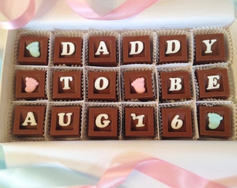 Daddy To Be Announcement - New Daddy Chocolates, Pregnancy Announcement - We're Expecting