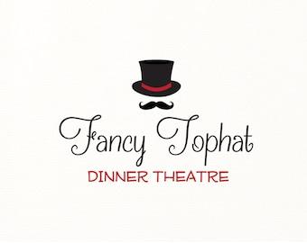 top hat logo tophat mustache vintage theatre theater - Logo Design #715