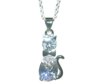 Cat Necklace, The Kids Shop, Chain With Cat Charm