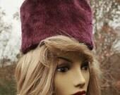 ON SALE 10% OFF Vintage Mod Fuzzy Funky Purple Hat by Doris Elegante  One Fun Hat