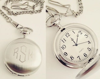 Gifts for Dad from Daughter Personalized Pocket Watch, Gifts for Dad from Son, Groom Gift Ideas, Father Daughter Gift