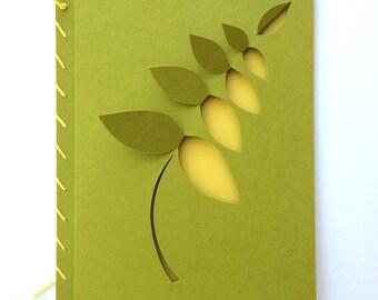 Curved Leaf Card