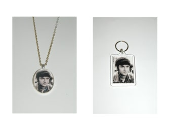 The Monkees Mike Nesmith Glass Pendant Necklace and/ or Keychain