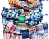 Patchwork Plaid Bow Tie for Dog Collar