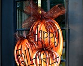 Fall Wreath, Door Hanger: Fall, Pumpkin Door Decoration, Fall Home Decor, Thanksgiving Door Hanger, Door Decoration