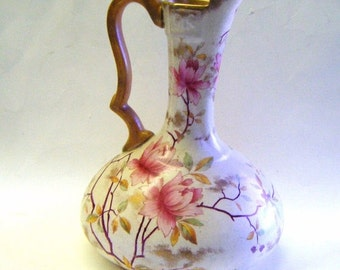 25% Off Storewide Sale Rare Antique Royal Adderley Bone China Floral Design Pitcher or Ewer