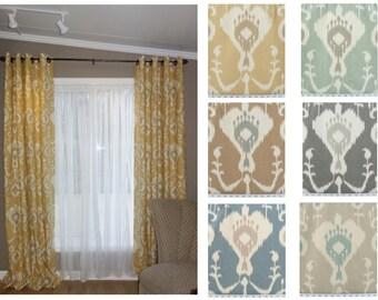 Java Ikat Curtain Panels, 2 panels