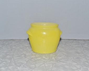 Glasbake Yellow Honey Jar ~ Bean Pot ~ Epsteam