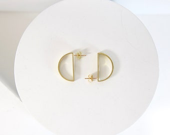 Semi Hoops in Brass